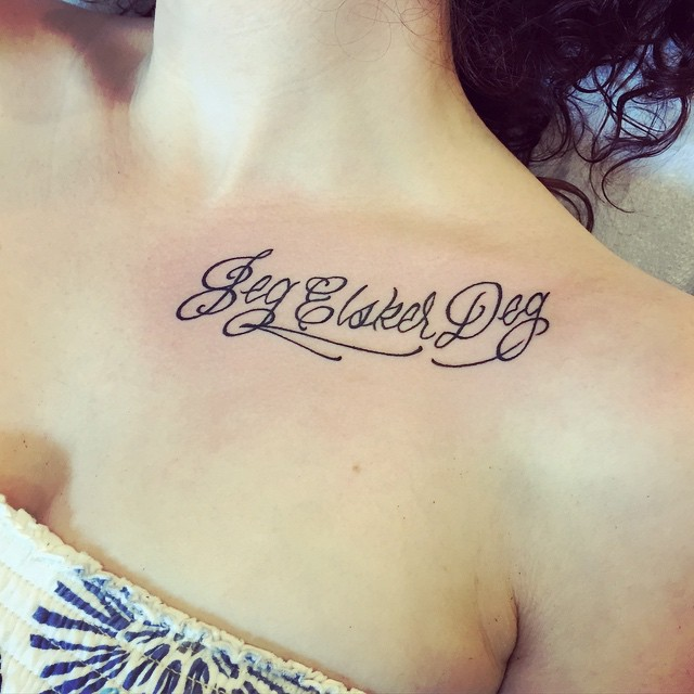 Collarbone Tattoo