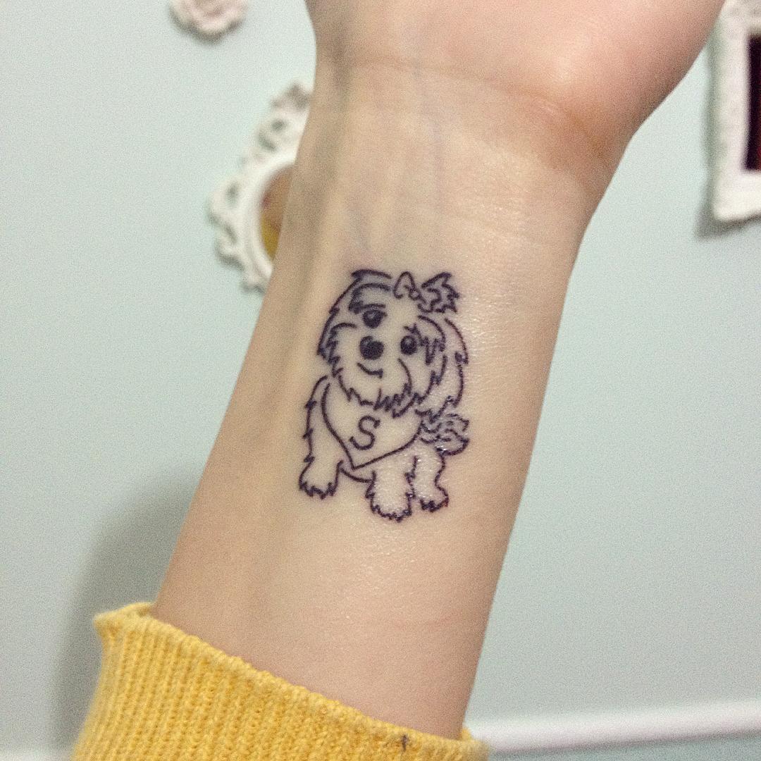 Dog tattoo ideas for women - 85