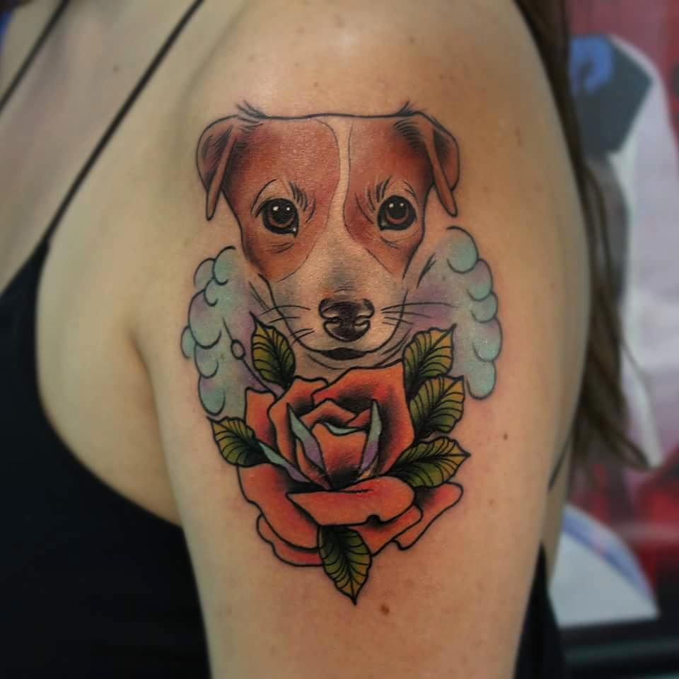 85 best dog tattoo ideas designs for men and women 2018 for The tattooed dog