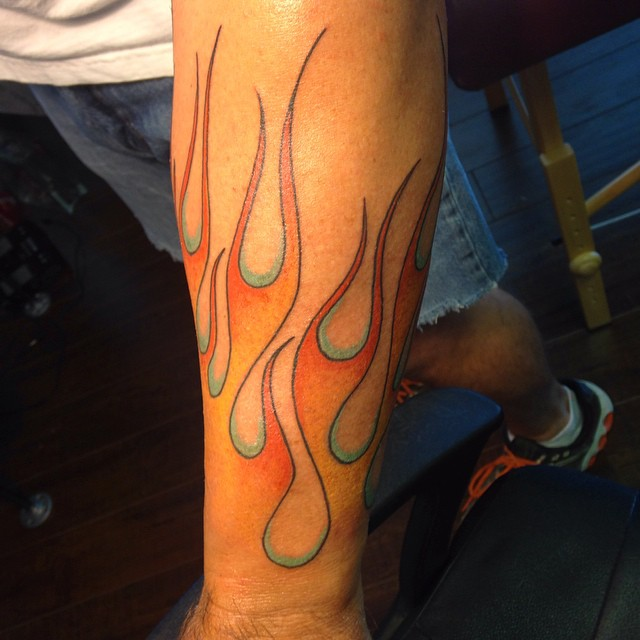 85 burny flame tattoos