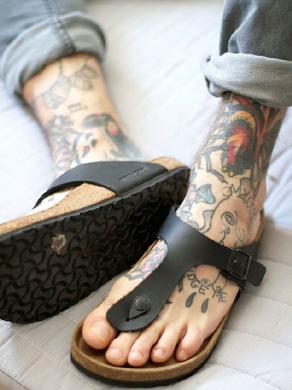 35 outstanding foot tattoo designs for Mens foot tattoos