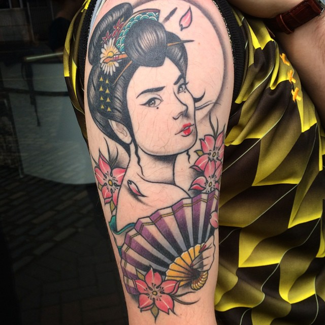 asian tattoo geisha