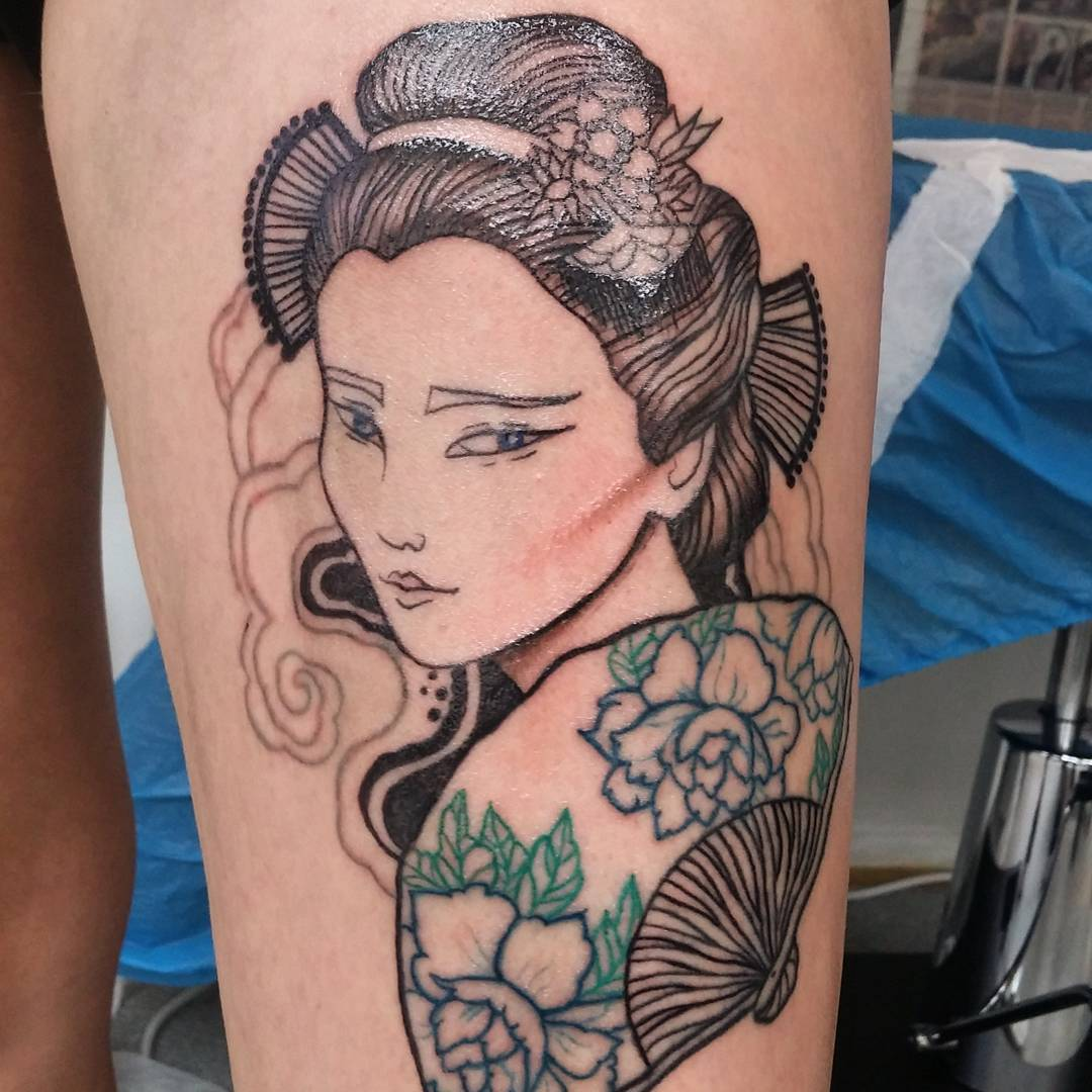 70 colorful japanese geisha tattoos   meanings and