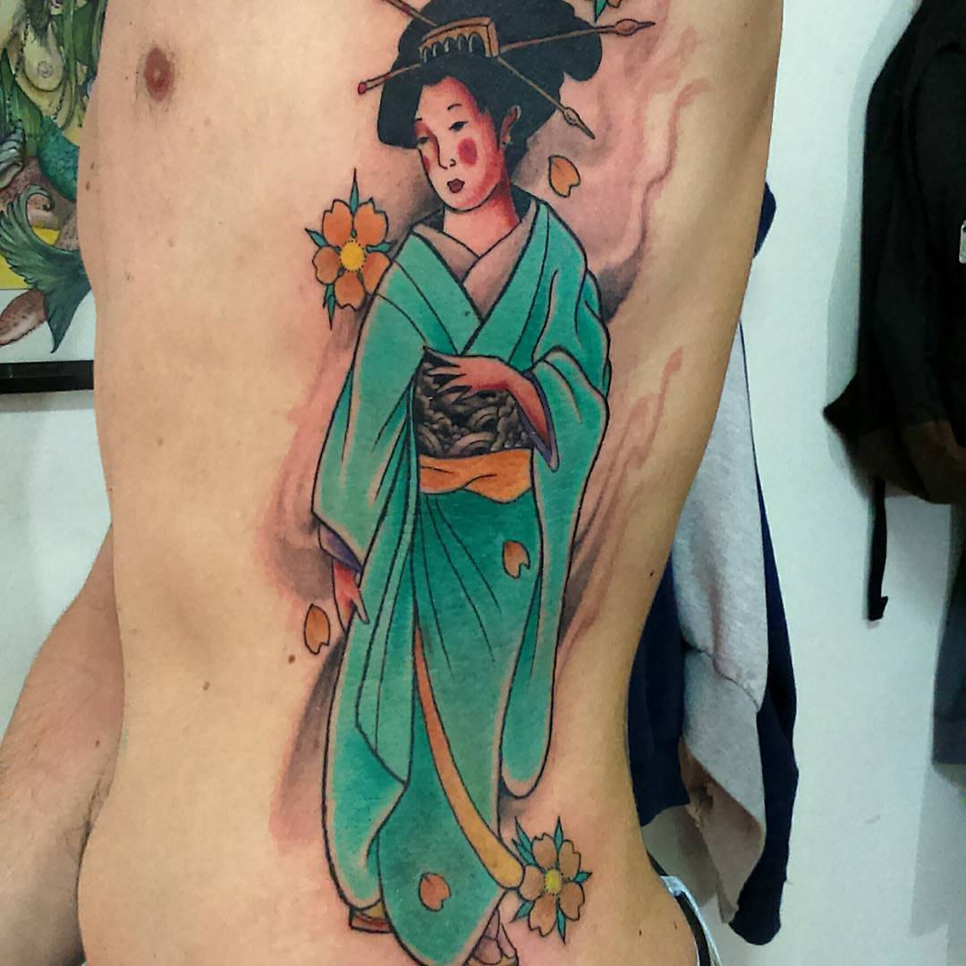 Pictures of geisha girl tattoos 12