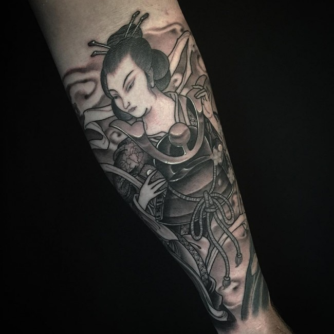 Pantyhose rough pictures of geisha girl tattoos