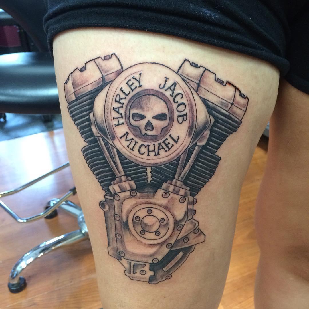25 Adventurous Harley Davidson Tattoos