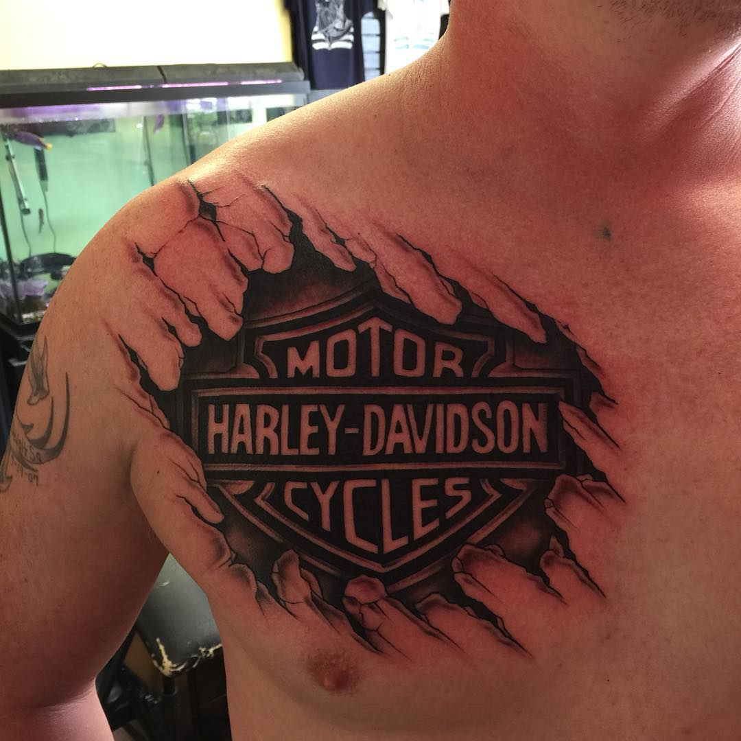 95+ Adventurous Harley Davidson Tattoos - photo#33