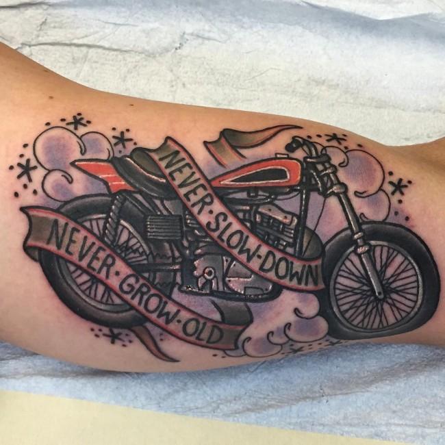 95 adventurous harley davidson tattoos for Tattoo designs motorcycle
