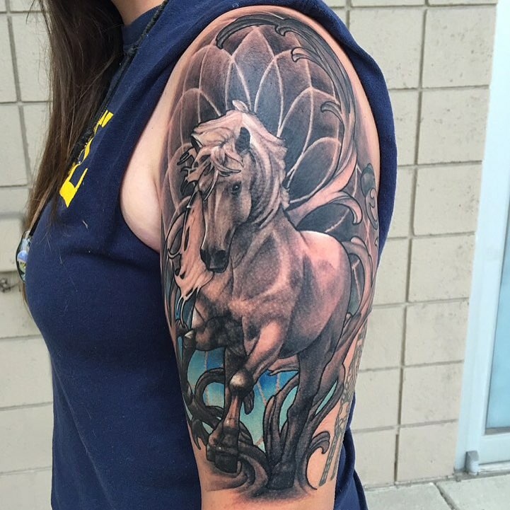 80 best horse tattoo designs meanings natural powerful 2018. Black Bedroom Furniture Sets. Home Design Ideas