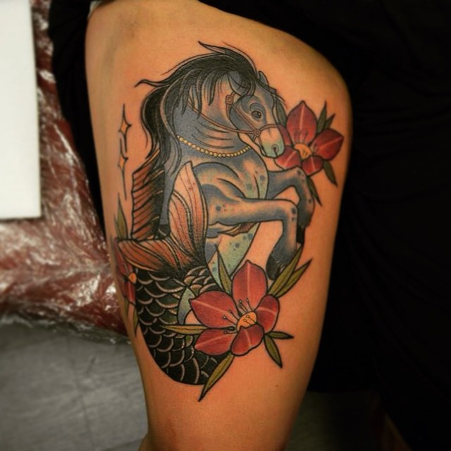 80 best horse tattoo designs meanings natural for Horse tattoo traditional