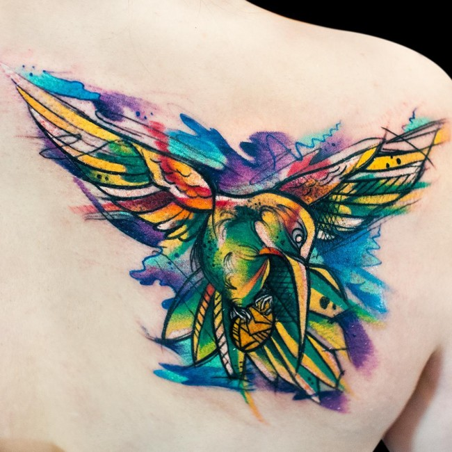 Hummingbird Rose Tattoo Designs