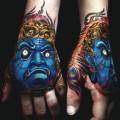 Japanese mask tattoos