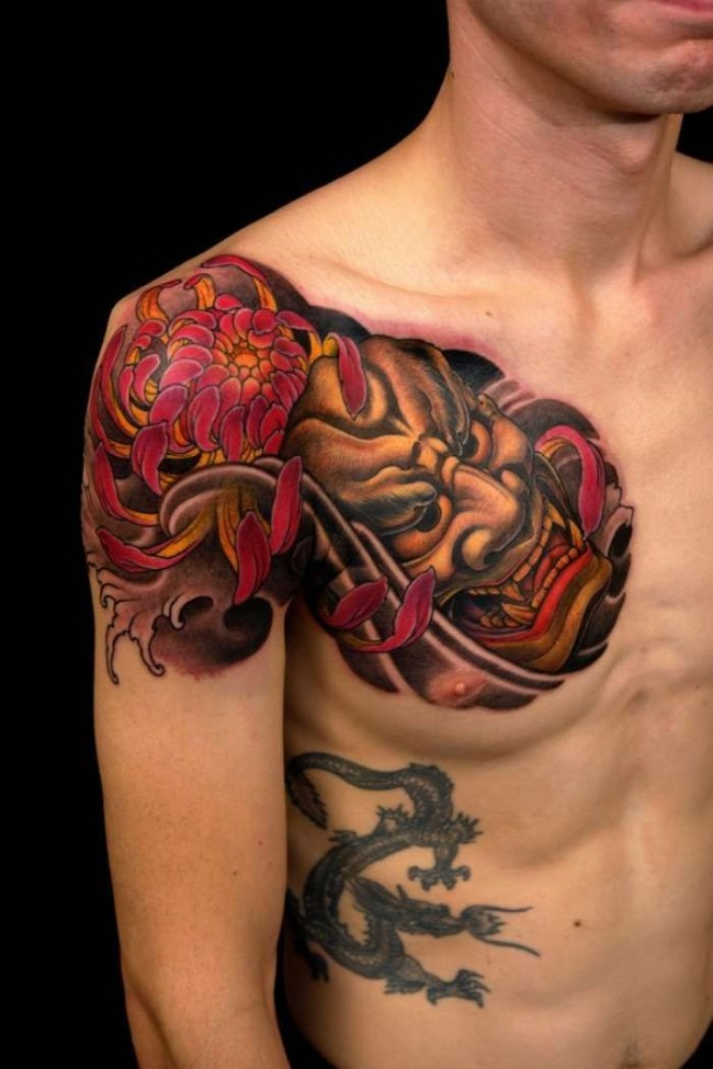 Japanese mask tattoos