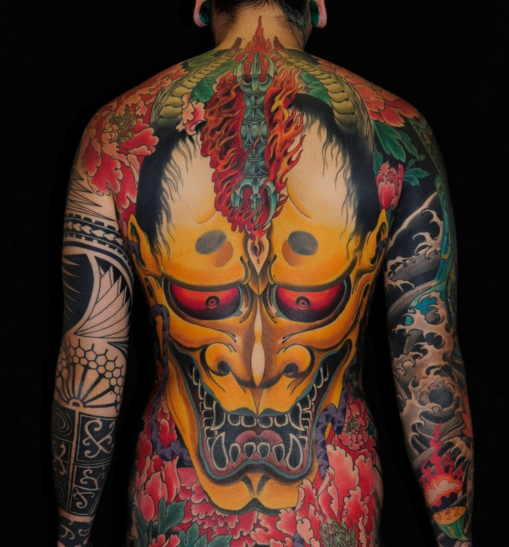 5ea6dfcd1 40 Best Japanese Mask Tattoos - Designs and Ideas (2019)
