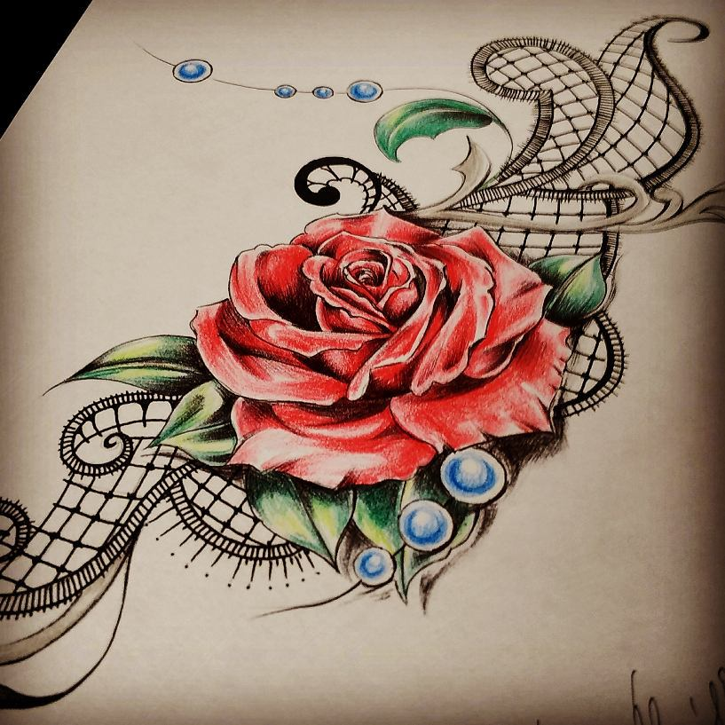 bf9774da3a516 60 Best Lace Tattoo Designs & Meanings - Sexy and Stunning (2019)