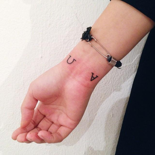 Lettering tattoos