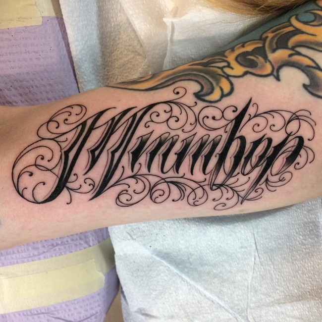 110 Best Tattoo Lettering Designs & Meanings 2017
