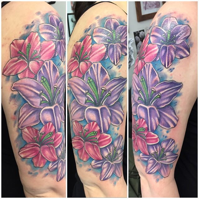 386684cac 80+ Lily Flower Tattoo Designs & Meaning - Tenderness & Luck (2019)