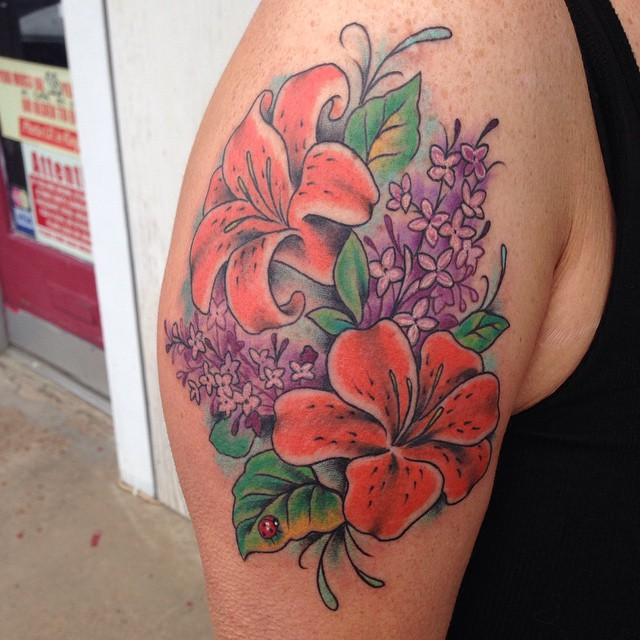 60 colorful lily flower tattoo designs meaning