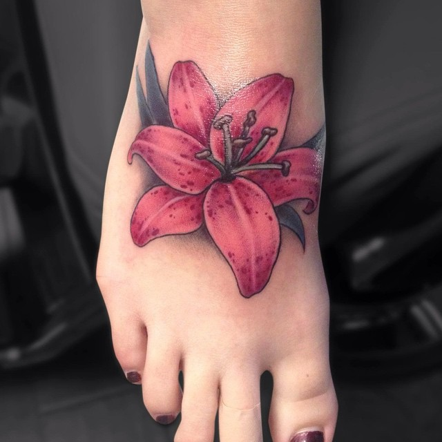 Lily Flower Tattoo Design: 40 Colorful Lily Flower Tattoo Designs & Meaning