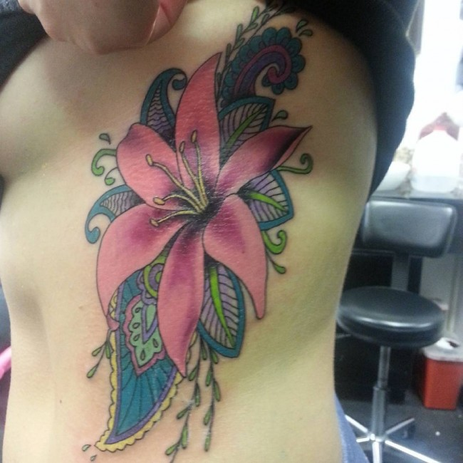 40 colorful lily tattoos for Lily tattoo meaning