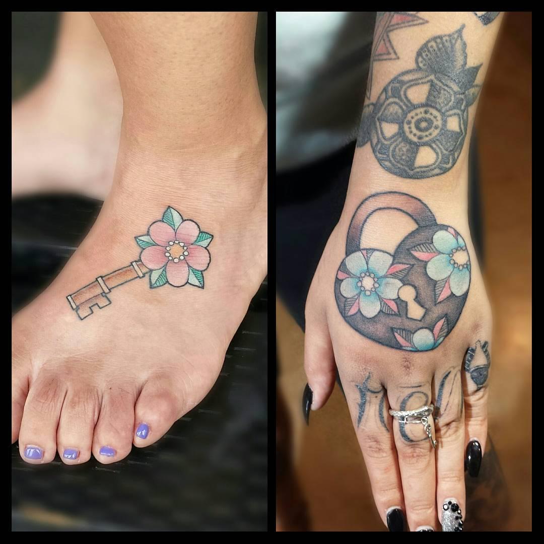 30 Key Tattoo Designs Ideas: 85+ Best Lock And Key Tattoos