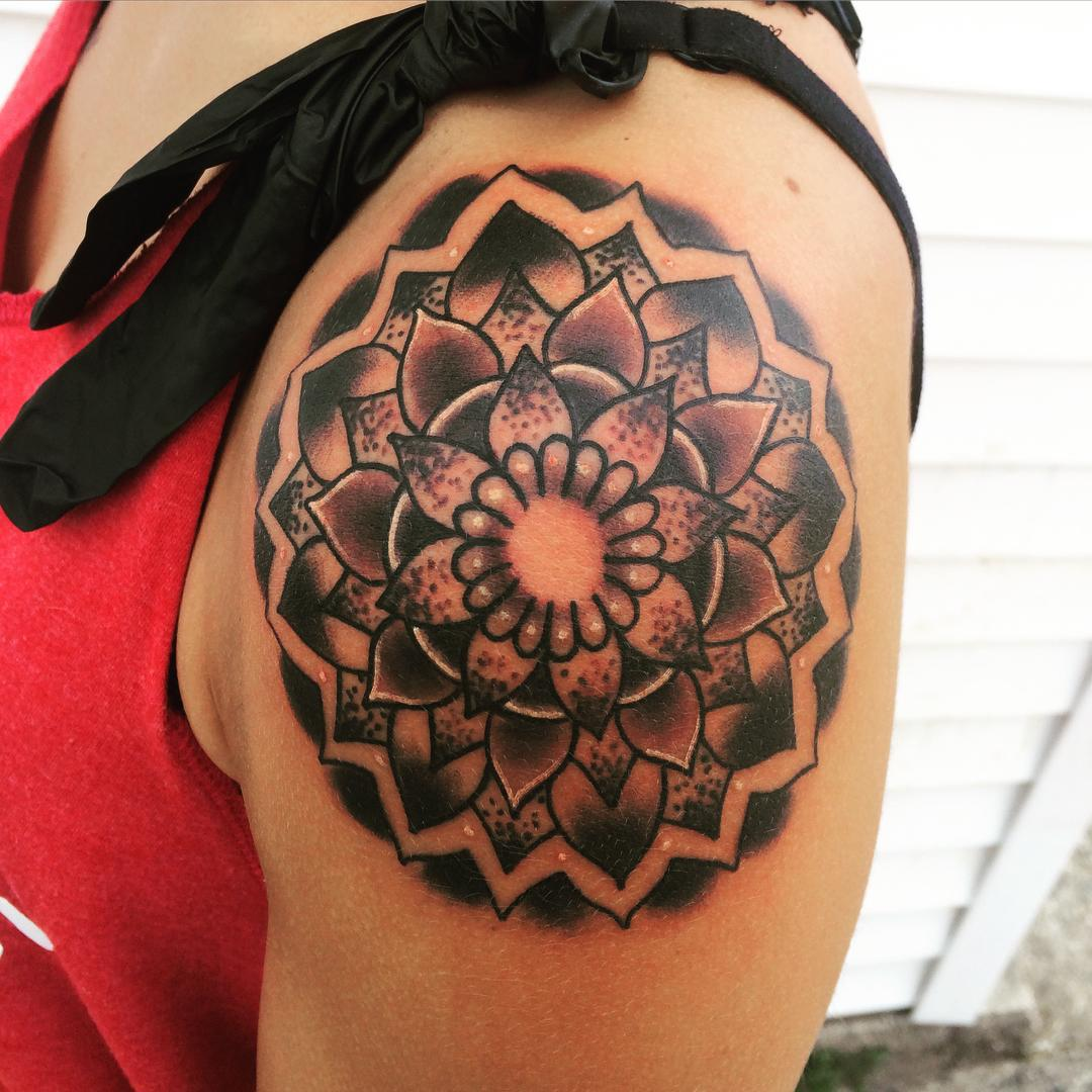 75 best mandala tattoo meanings designs perfect ideas. Black Bedroom Furniture Sets. Home Design Ideas