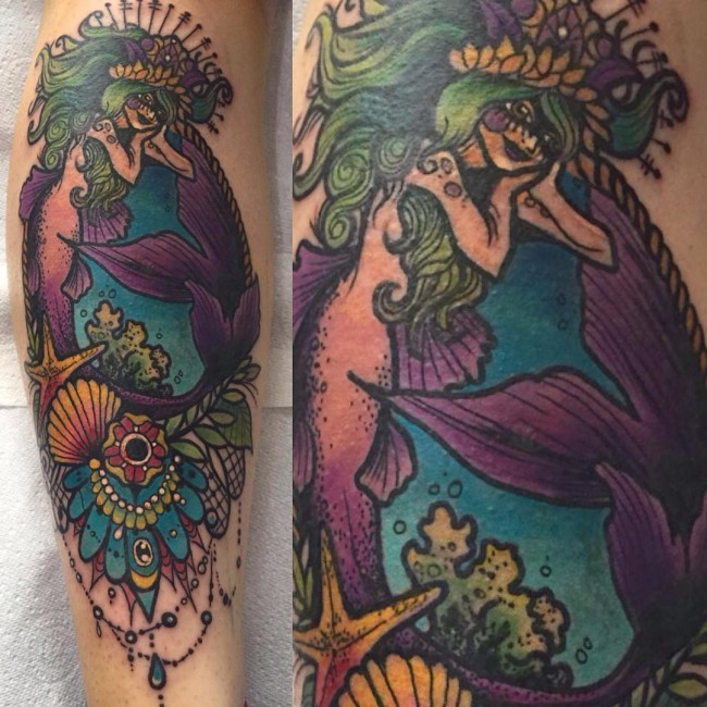 mermaid tattoo (3)