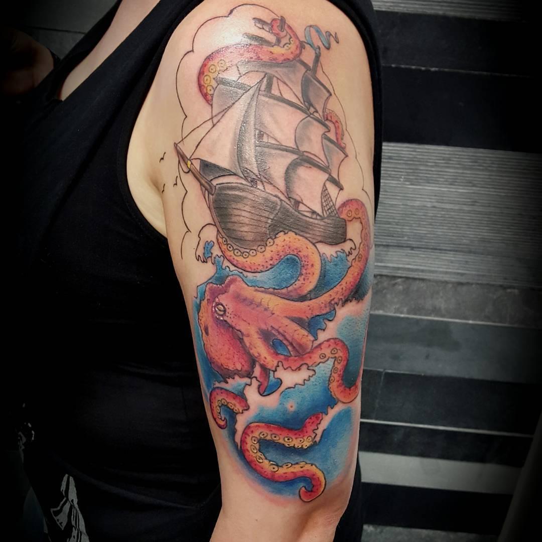 120 best marine octopus tattoos designs meanings 2019