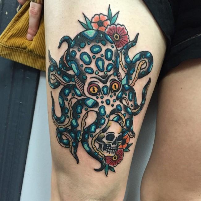 Octopus Tattoo Lower B...