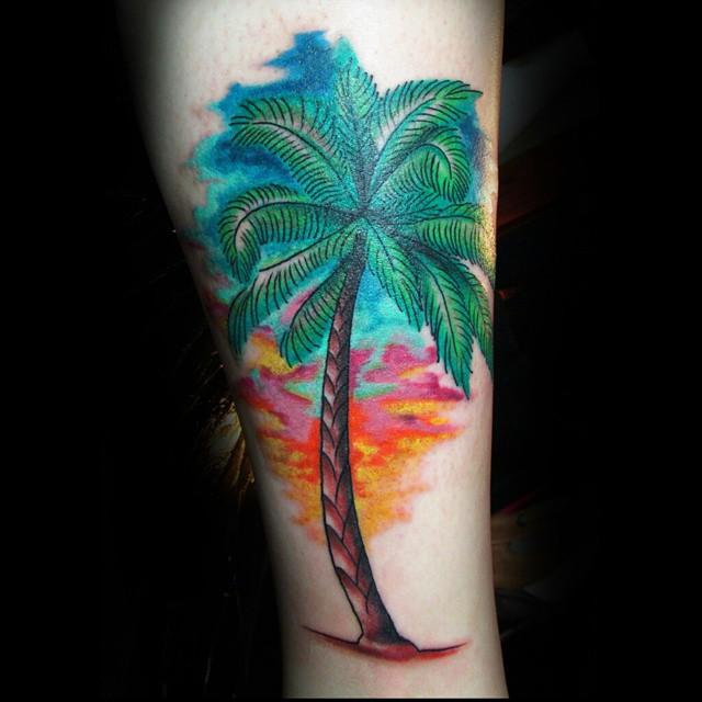 palm tree tattoos