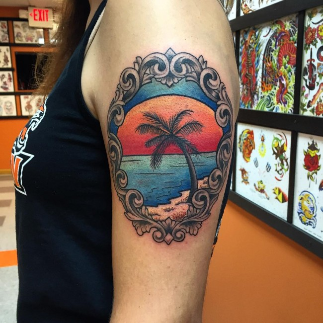palm tree tattoos