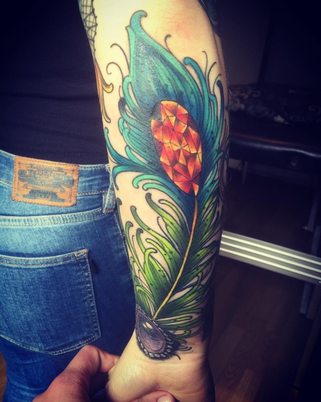 peacock feather tattoos (3)