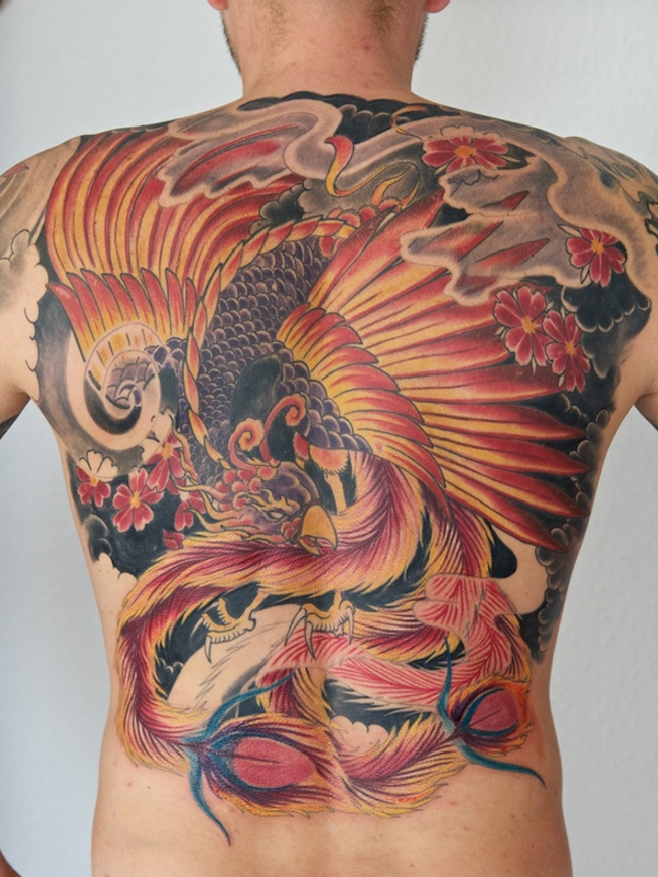 60 amazing phoenix tattoos. Black Bedroom Furniture Sets. Home Design Ideas