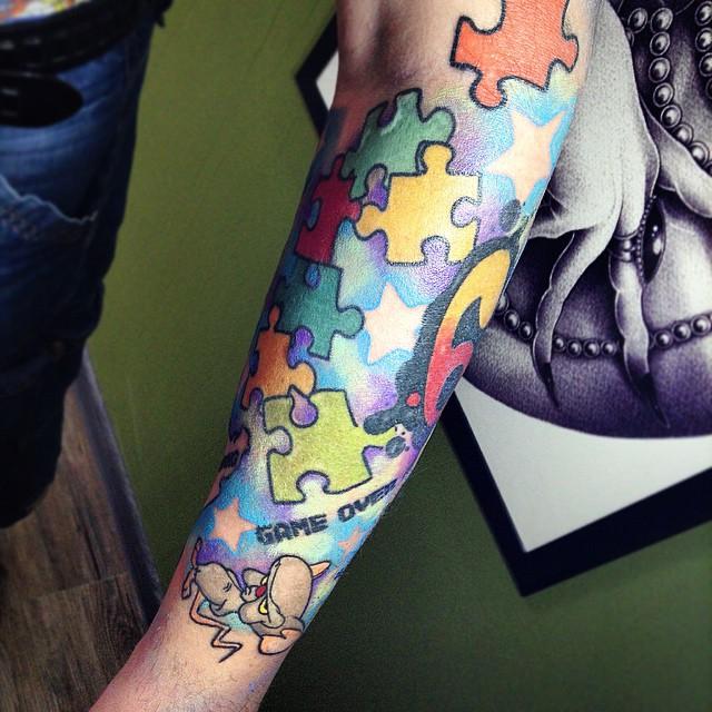 puzzle piece tattoos