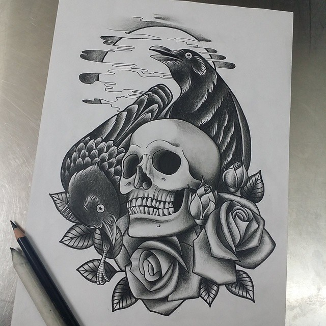55 Inspiring Raven Tattoo Designs & All Meaning
