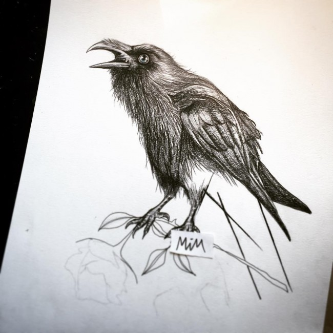 75+ Best Raven Tattoo - Designs & All Meanings (2018)
