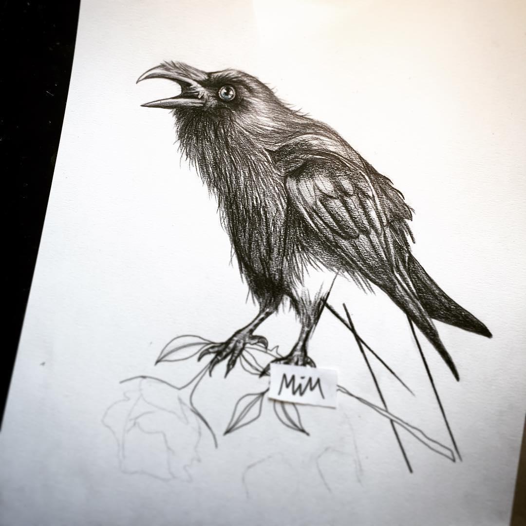 Flying raven design