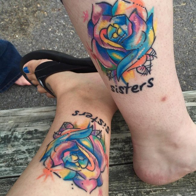 95+ Superb Sister Tattoos - Matching Ideas, Colors, Symbols