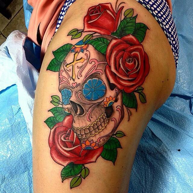 60 best sugar skull tattoos for Sugar skulls tattoos meaning