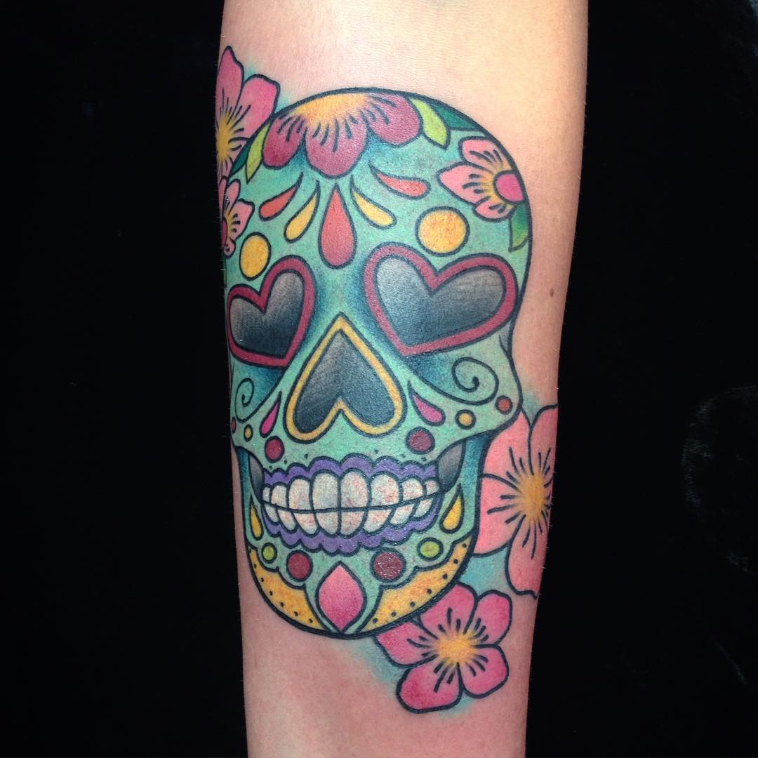 125 best sugar skull tattoo designs meaning 2018 for Ctrl tattoo meaning