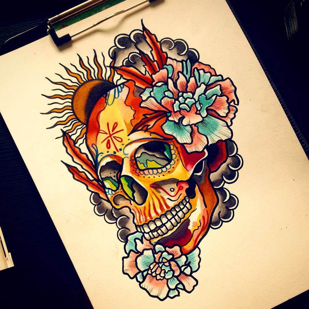 125 best sugar skull tattoo designs amp meaning 2018
