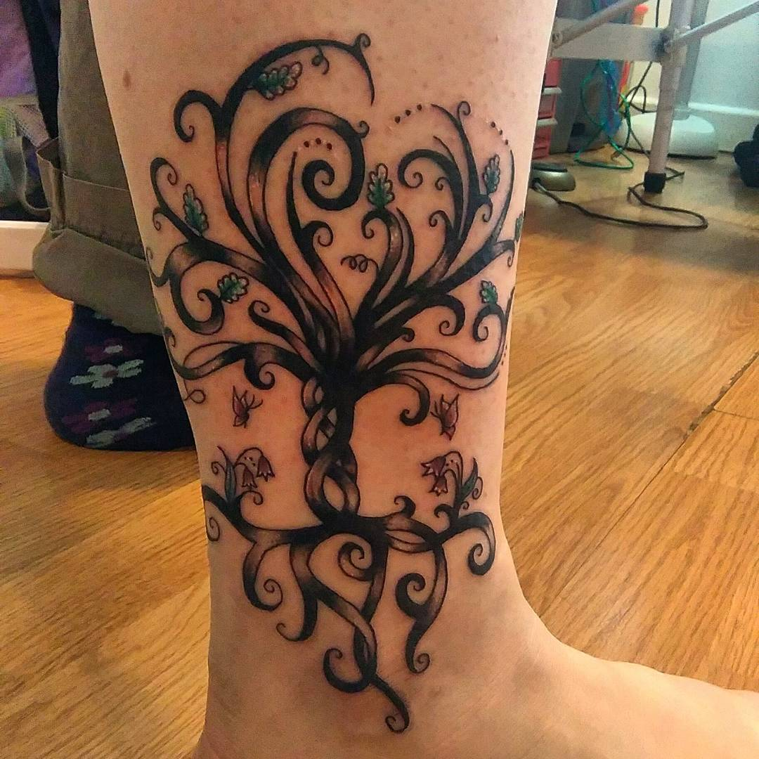 Tree Of Life Tattoo With Heart Roots: 85+ Best Tree Tattoo Designs & Meanings