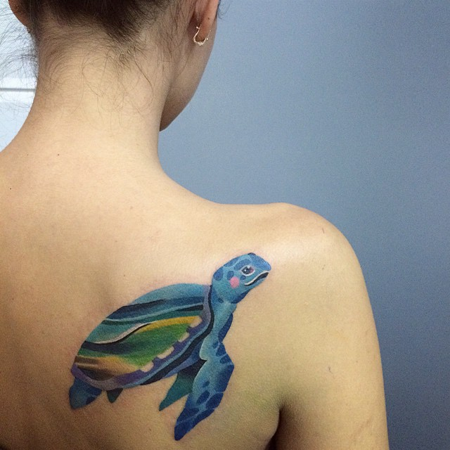 125 Unique Turtle Tattoos With Meanings And Symbolisms