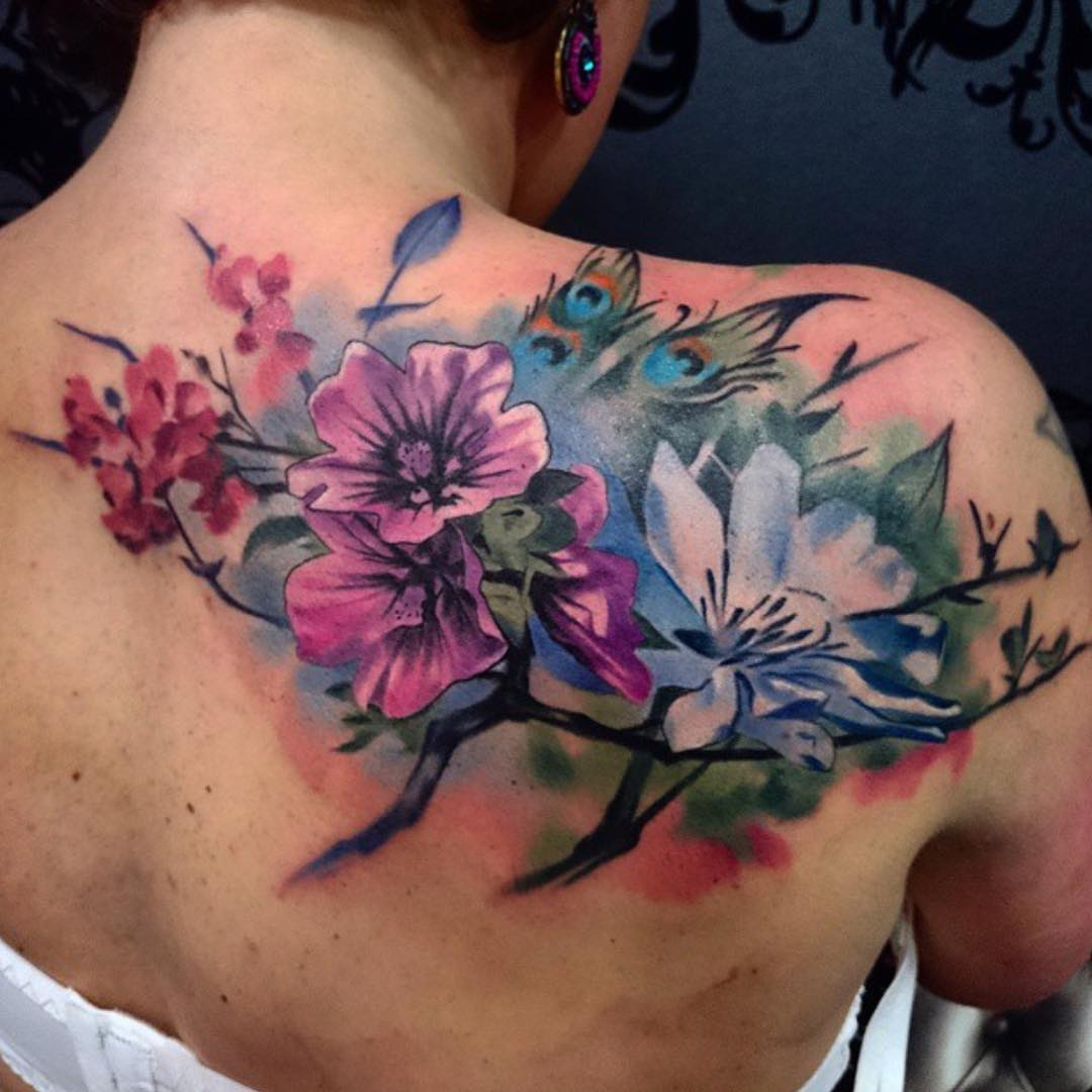 Floral Tattoos: 60+ Best Upper Back Tattoos Designs & Meanings
