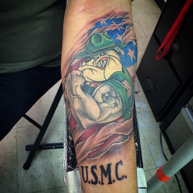 75 Cool Usmc Tattoos Meaning Policy And Designs 2019