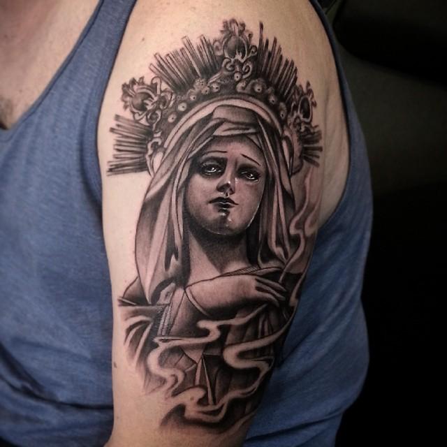 Virgin Mary tattoos