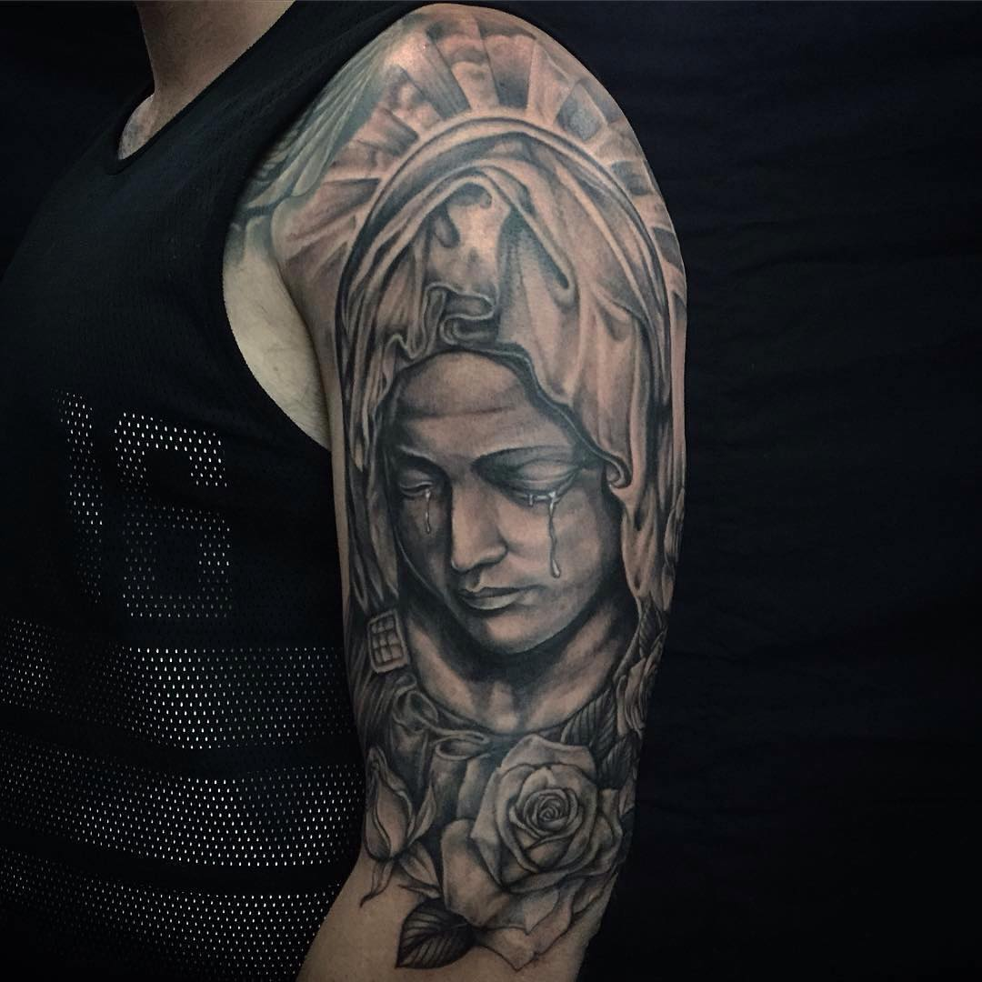 75 Best Spiritual Virgin Mary Tattoo Designs Meanings 2019