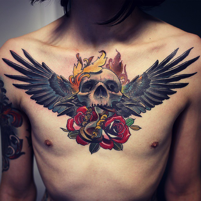 40 Wing Chest Tattoo Designs For Men: 65+ Best Angel Wings Tattoos Designs & Meanings