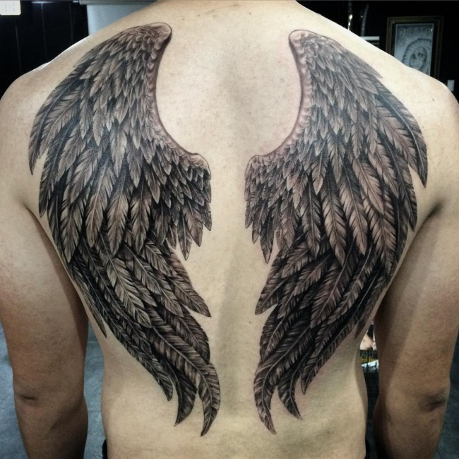 65 best angel wings tattoos designs meanings top
